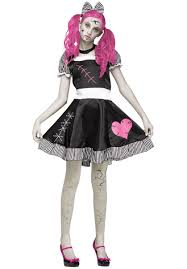 broken sad doll teen girls pinafore dress costume escapade uk