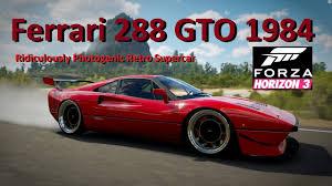 stanced ferrari ferrari 288 gto 1984 stanced with dubs forza horizon 3 youtube