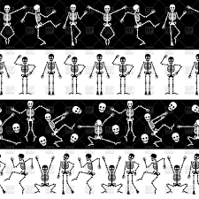 dancing halloween skeleton background skeleton dance funny dancing skeleton on black background vector