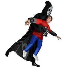 inflatable halloween skeleton costume polyester party and cosplay