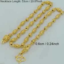 anniyo 53cm men necklace gold color u0026 copper thick chain dragon