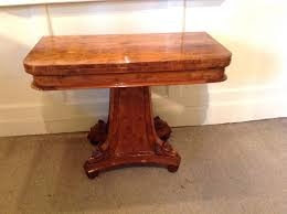 Yew Side Table Side Table Antique Side Table Burr Yew Wood Card The Swan