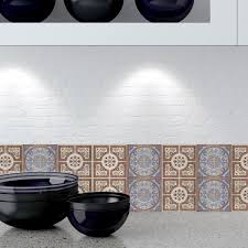 tile decals for kitchen backsplash decorative tiles stickers lisboa pack of 16 tiles tile decals