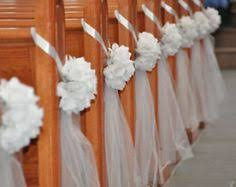 Church Decorations For Wedding More Pew End Ideas Alternate Ivory Chair Sash And Roses With