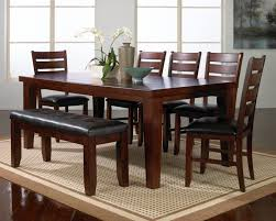kitchen table round rectangle with bench wood distressed finish 2