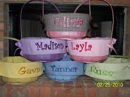 personalized easter basket liners custom made easter baskets home design architecture