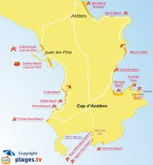 map of antibes beaches in cap d antibes 06 seaside resort of cap d