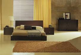Low Profile Rug Bedroom Low Profile Bed Brown Fur Rug Wood Drawer