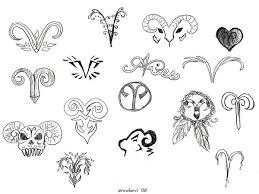 aries zodiac sign tattoos designs