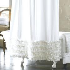 Urban Outfitters Waterfall Ruffle Curtain by Anthropologie Ruffle Shower Curtain Tutorial Bathroom Furniture
