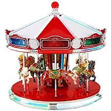 Mr Christmas Ornament - amazon com mr christmas holiday carousel a string of five