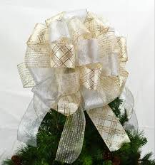 White Bows For Tree Tree Bows Pink Door Wreaths