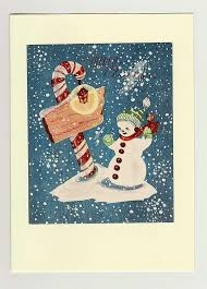 148 best vintage snowmen images on