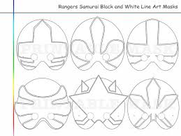 coloring pages rangers samurai party printable black white
