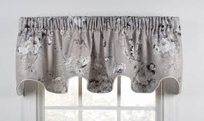 Black Lace Valance Chatsworth Curtain Collection Traditional Floral Window Toppers