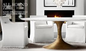 All Round Tables RH - Round wood dining room tables