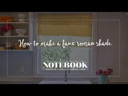 No Sew Roman Shades How To Make - learn how to make a faux roman shade in 10 minutes no sewing