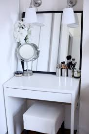 Table Vanity Mirror With Lights Furniture Makeup Table Walmart Mirrored Desk Target Lighted