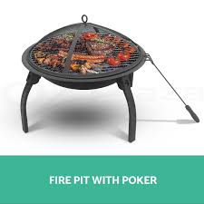 22 inch outdoor garden camping portable foldable fire pit bbq