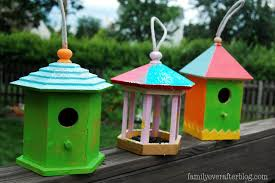 family ever after kid craft painted bird cage