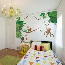jungle theme wall decals canada kids jungle theme wall mural jungle monkey children s wall sticker set by oakdene designs notonthehighstreet