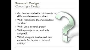research methods choosing a research design