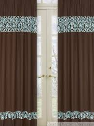 Brown Turquoise Curtains 18 Best Living Room Images On Blue Brown Curtain