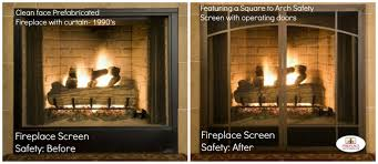 safety features of a fireplace screen