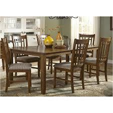 25 t4282 liberty furniture santa rosa oak rectangular leg table