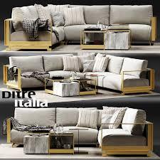 corner couch 3d ditre italia bag corner sofa cgtrader