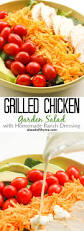 What Type Of Dressing Does Olive Garden Use Grilled Chicken Garden Salad With Homemade Ranch Dressing Ahead