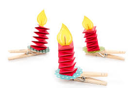 paper candle ornament craft ideas