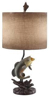 bass resin table lamp 26 5