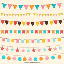 birthday decorations in different colors vector free