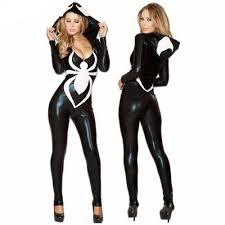 women black spiderman hoodie jumpsuit halloween costumes daisy