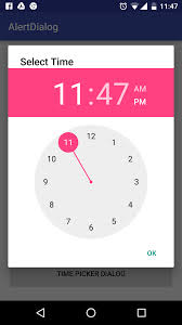 timepicker android android alert dialog tutorial working with time picker date
