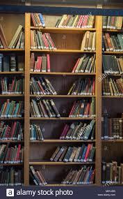 Ottoman Books Bookshelf With Turkish Ottoman Handwriting Books Stock Photo