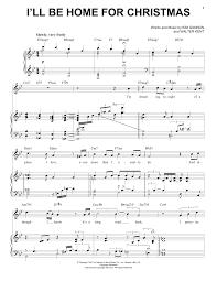 i ll be home for christmas sheet music christmas2017