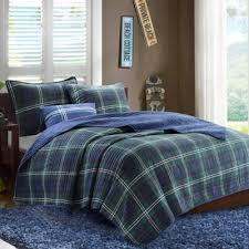 green and blue comforter green plaid comforter set buy blue and