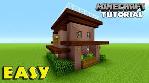 minecraft how to build a survival house tutorial simple u0026 easy