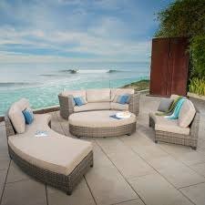 Curved Sectional Patio Furniture - nautilus 6pc deep seating sectional mission hills furniture
