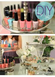how to make spinning nail polish jewelry 3 tier display fixture