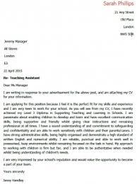 cover letter teacher assistant best resume gallery