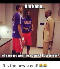 Derrick Rose Jersey Meme - um kobe nbamemes why are you wearing a derrick rose jersey it s the