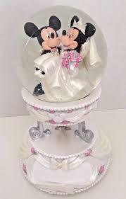 mickey and minnie cake topper disney parks mickey minnie mouse musical snowglobe wedding cake