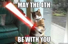 May The 4th Meme - may the 4th be with you star wars cat quickmeme