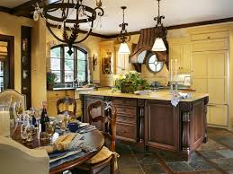 french country kitchen yellow blue video and photos
