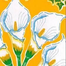 yellow calla yellow calla oilcloth fabric oilcloth alley