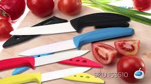 dx multi color kitchen ceramic knife set youtube