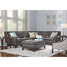 Reina Point White Leather  Pc Sectional Living Room Leather - White leather living room set